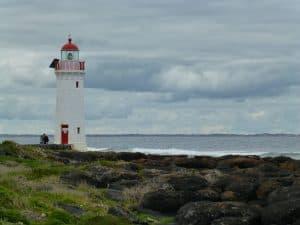 Lighthouse at Griffiths Island near Port Fairy